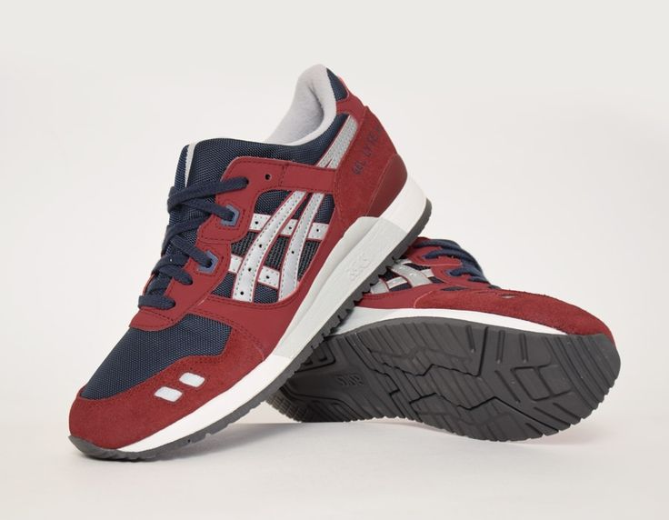 asics gel lyte 3 rouge bordeaux