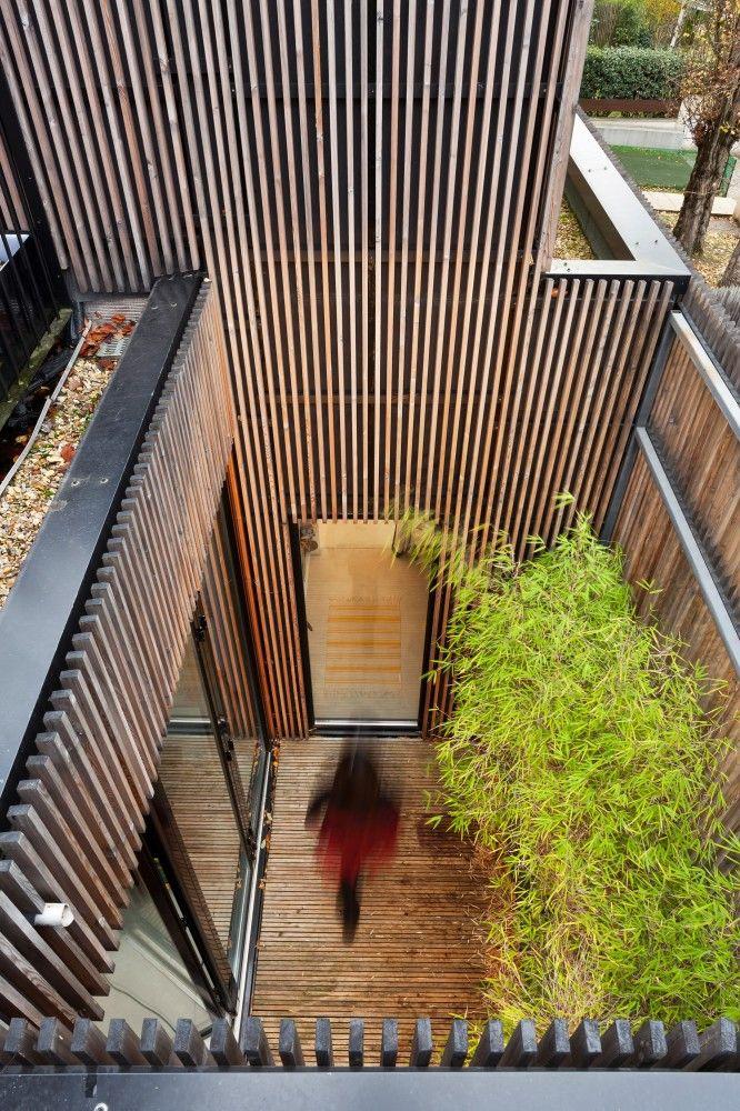 Wooden frame house;  Sèvres, France - a + samuel delmas