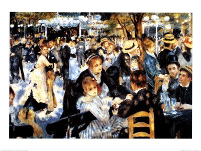 Le Moulin de la Galette - Renoir  My favourite piece of art since I was a child!