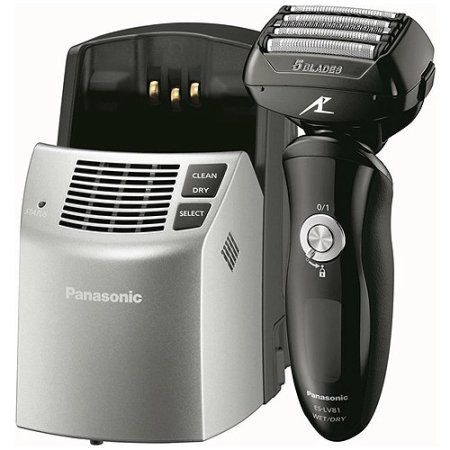 Panasonic Arc5 Wet/Dry Men's Electric Shaver with Clean & Charge System, ES-LV81-K, Silver