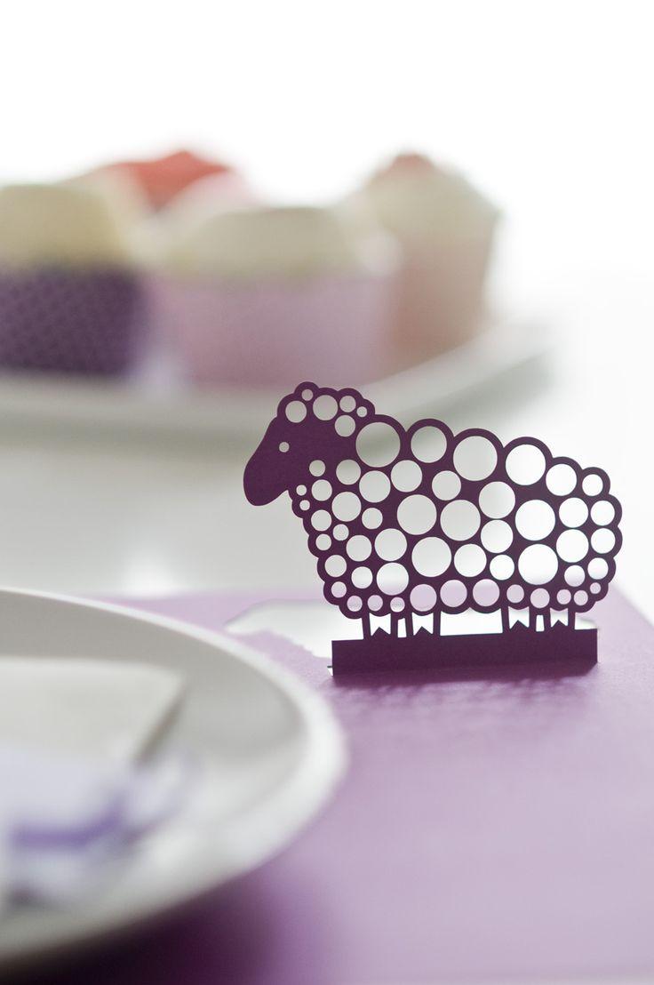 Sheep lasercut placemat  www.karcsipapir.hu