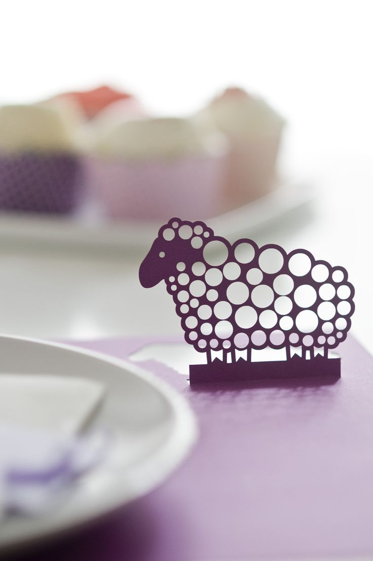 Sheep lasercut placemat