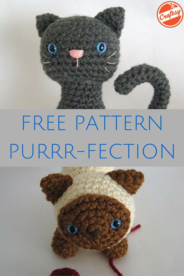 Crochet a meowntain of adorable amigurumi kittens! The pattern is free.
