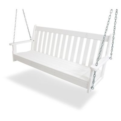 Polywood Vineyard Garden Porch Swing In White