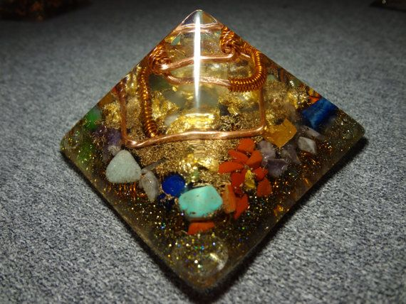 Orgone Pyramide with the Ural gems Chakra от OrgoneMadeInTheUral