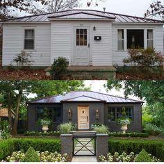 Image Result For Small Ranch House Before After Paint · Außenbereich  VeränderungHaus AussenbereicheSchöne ZuhauseFarbe ...