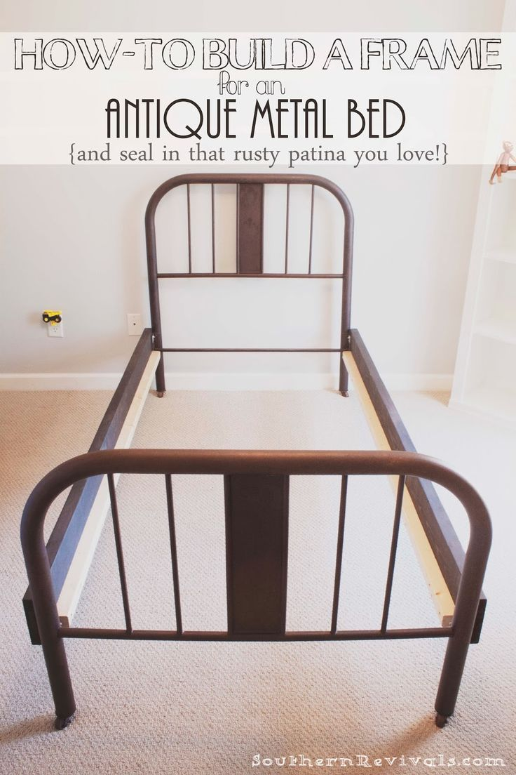 Tilden standard metal bed inspire q bedroom spaces apartment bedroom - How To Make A Frame For An Antique Metal Bed