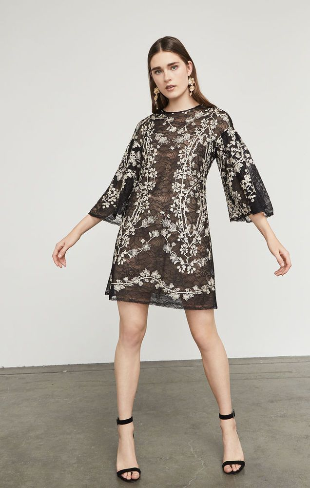 8a201a44e752 NWT BCBG MAXAZRIA DRESS evangeline BLACK LACE SIZE S 4 6 8 Porcelain Vines  #fashion #clothing #shoes #accessories #womensclothing #dresses (ebay link)