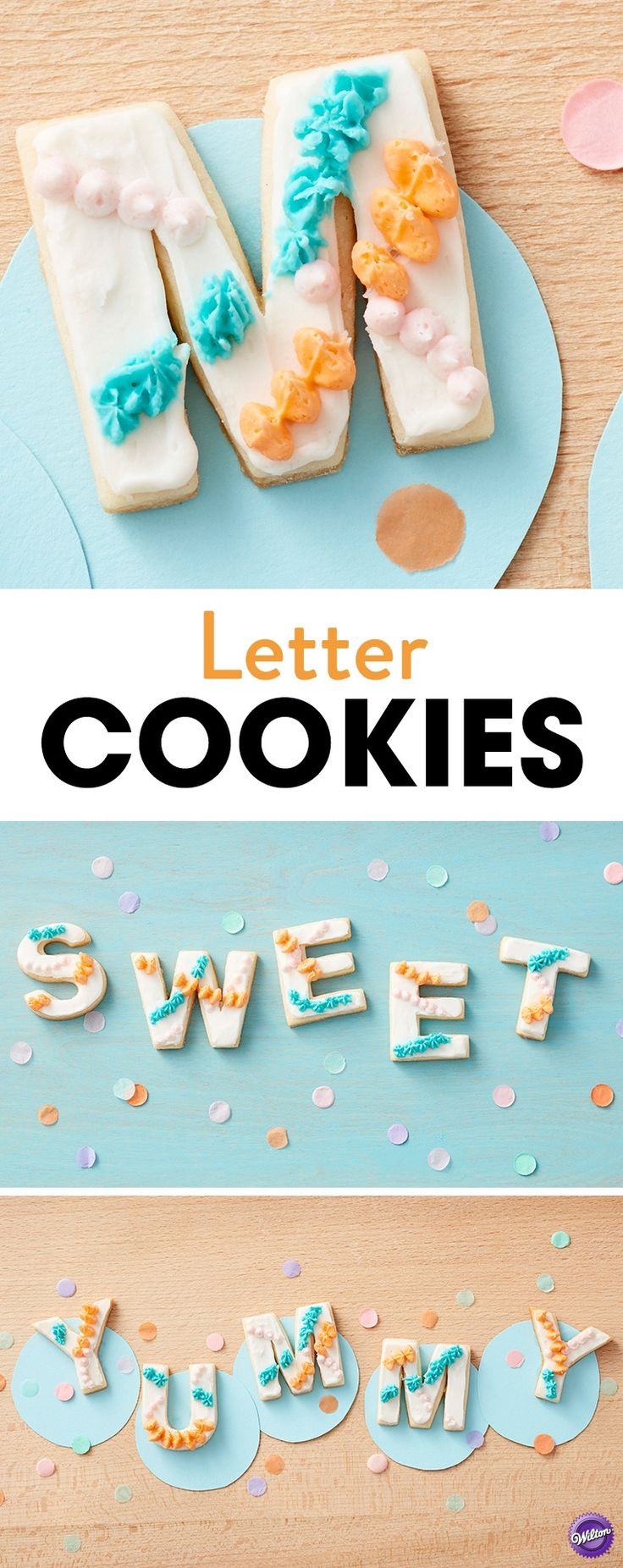 How to Make Easy Letter Cookies - Want to say something sweet? Say it in cookies! Spell out a message of your choice using the Wilton Alphabet Cookie Cutter Set with this simple Easy Letter and Number Cookies project. An easy recipe for beginners, these letter and number cookies are decorated with colorful icing for a treat that looks and tastes great! A fun treat for birthdays, weddings or to just say something nice, these Easy Letter and Number Cookies are an easy project with a big…