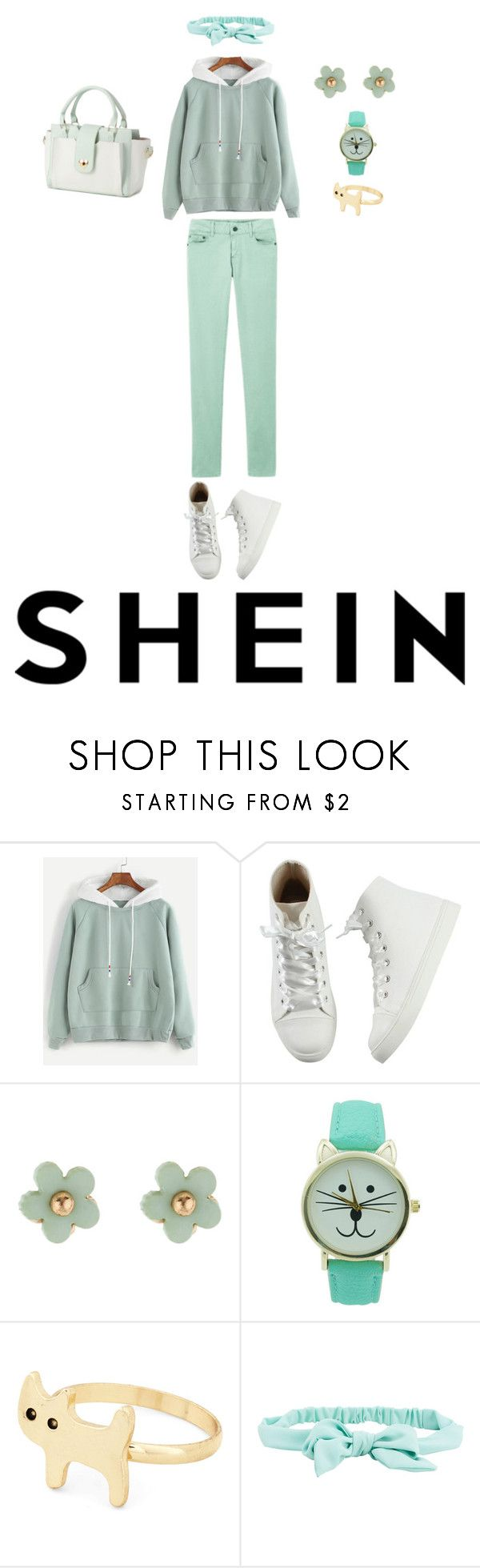 """""""Minty Sweatshirt"""" by hello-alex106 ❤ liked on Polyvore featuring beauty, Monsoon, Mew. and Aéropostale"""