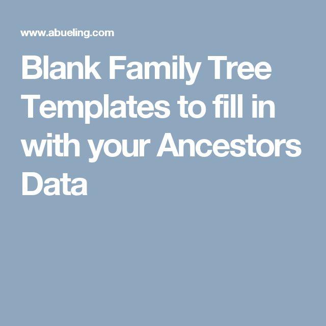 As 25 melhores ideias de Blank family tree template no Pinterest - blank family tree template