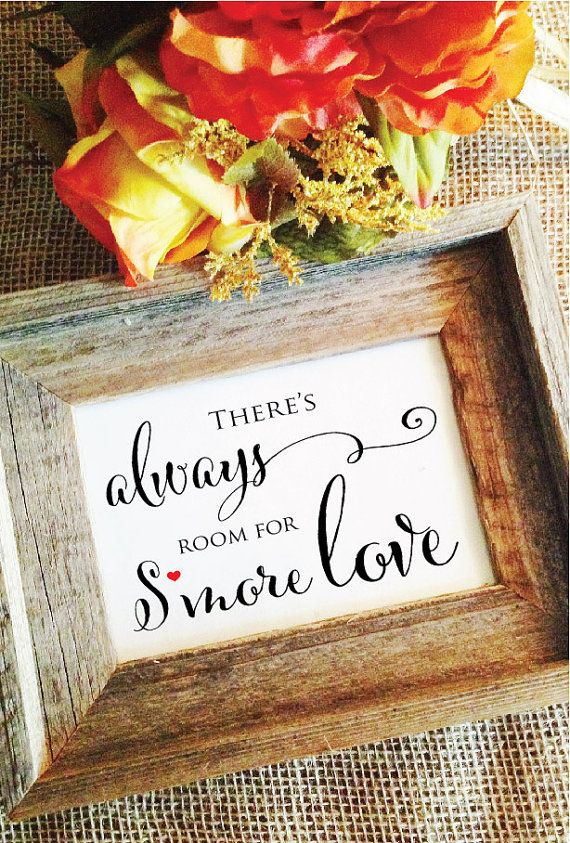 Smores Sign Smores Bar Sign Frame NOT by WeddingAffections on Etsy