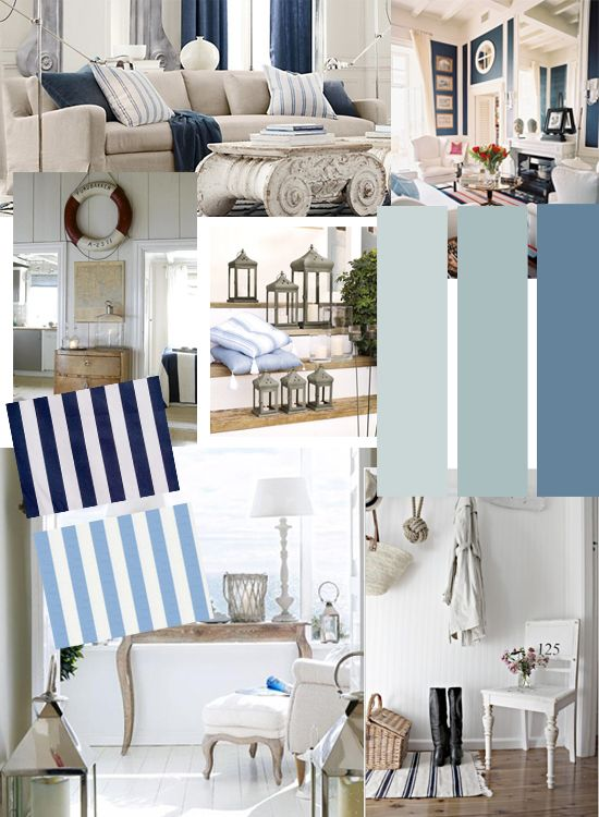 Nautical Mood Board By Butterfly Lane