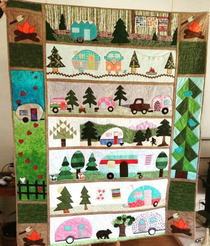 Camping R X R Quilts Camper Fabric Sampler Quilts