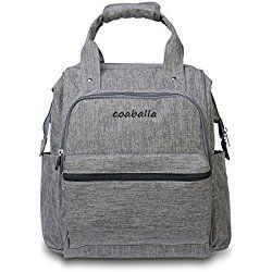 Coaballa Multi-Function Travel Diaper Bag Backpack Organizer for Men and Women- Extra Large/Grey