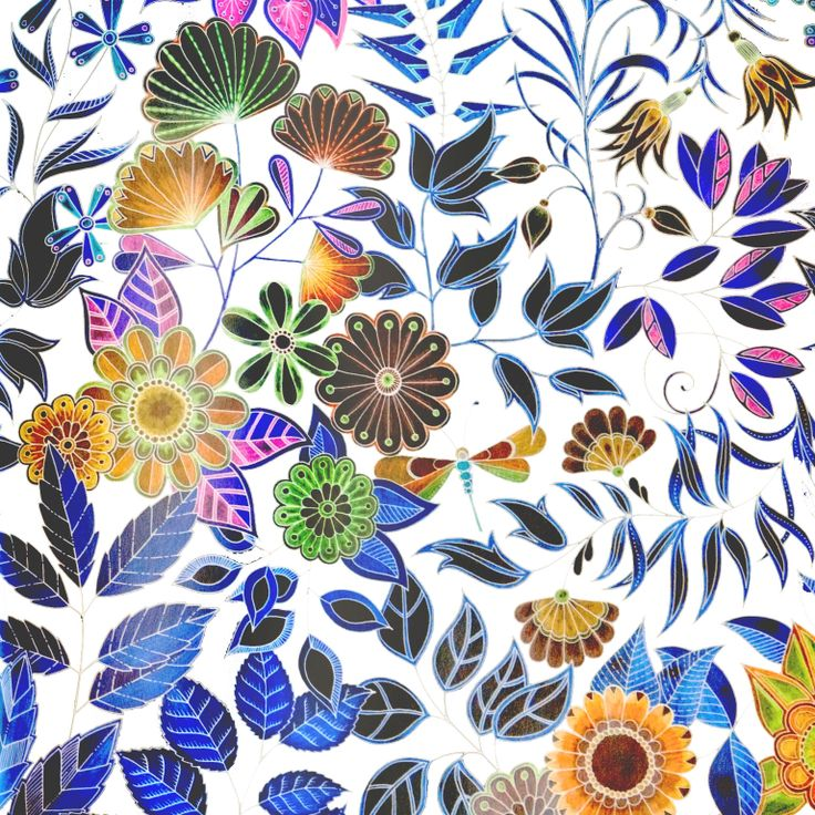 1000 Images About Secret Garden Johanna Basford On Pinterest Glow Peacocks And Coloring