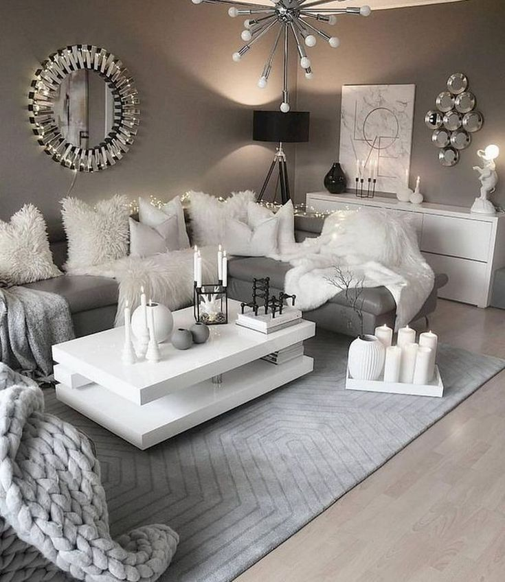 10+ Stunning White Contemporary Living Room