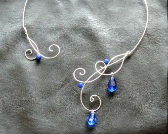 Celtic Elven Necklace Bridal Jewelry Sterling by ElvenShop69