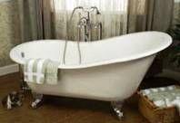 victorian bathtubs | Victorian Clawfoot Bathtub