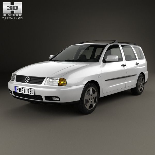 Volkswagen Polo Variant 1997 3d model from Hum3d.com.