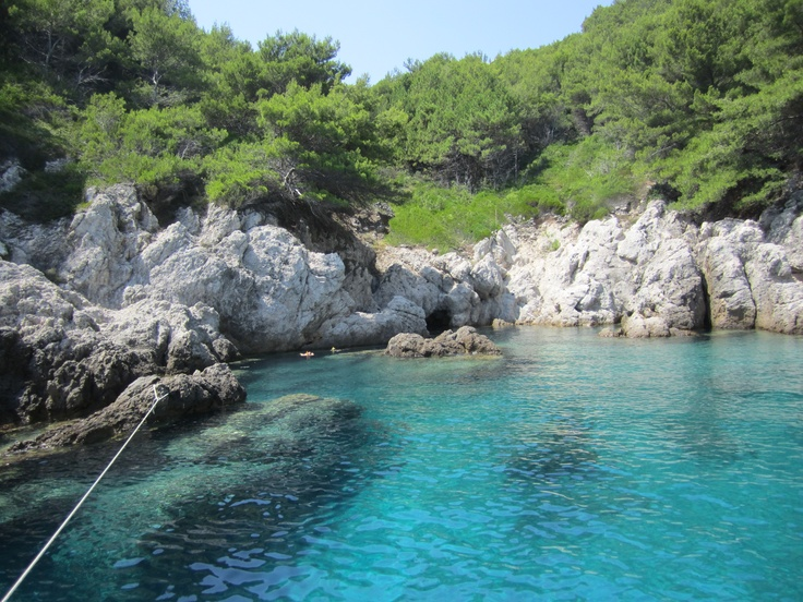 2012 Croatia - this is where we dropped anchor and did a bit of snorkelling, the water was so warm and clear. It was like swimming in an aquarium :)