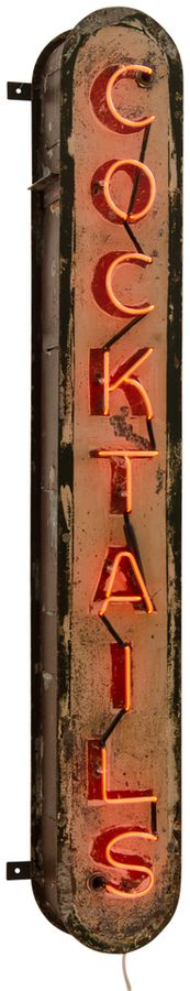 Vertical Neon Cocktails Sign c1940 https://api.shopstyle.com/action/apiVisitRetailer?id=605045825&pid=uid8100-34415590-43