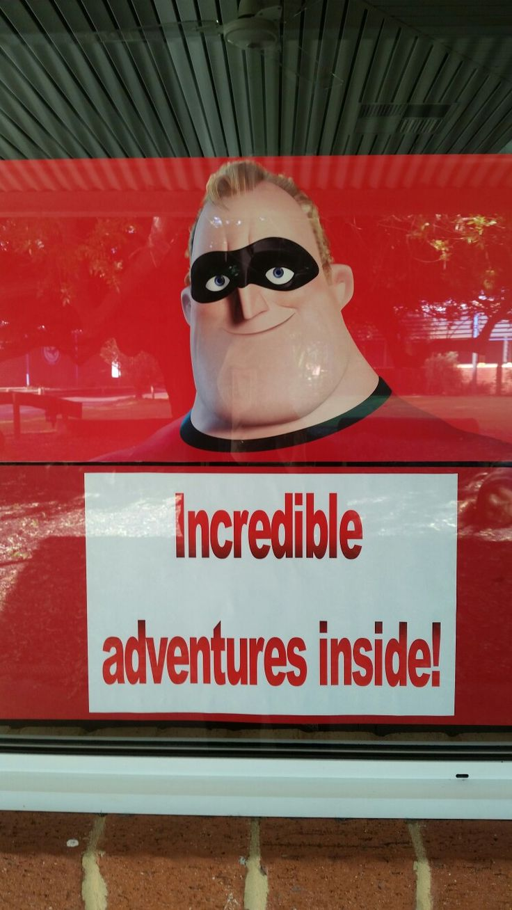 Incredible adventures inside. Sign in library window.