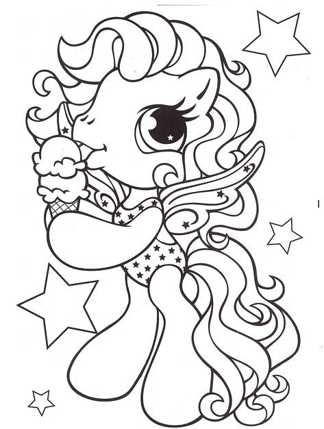 Little Pony Eat Ice Cream Coloring Pages My Little Pony Car Coloring Pages