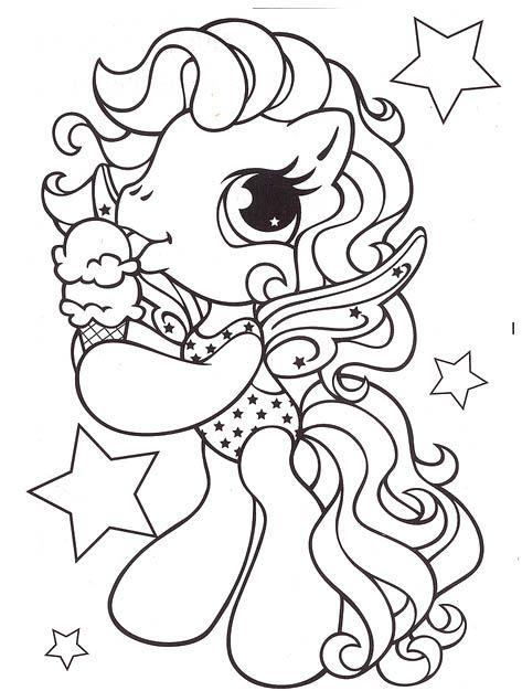 Little Pony Eat Ice Cream Coloring