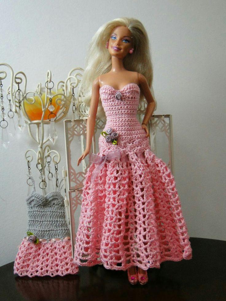 Mejores 8691 imágenes de b : Barbie jolie robe longue au crochet en ...