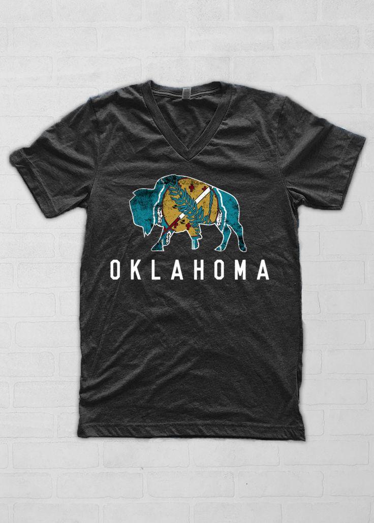 OKLAHOMA: Buffalo Oklahoma Flag from Calamity Jane's Apparel                                                                                                                                                                                 More