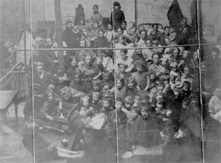 A workhouse scene from 1895. Many of Dublins workhouses were filled with people from outside the city. #Irish #History