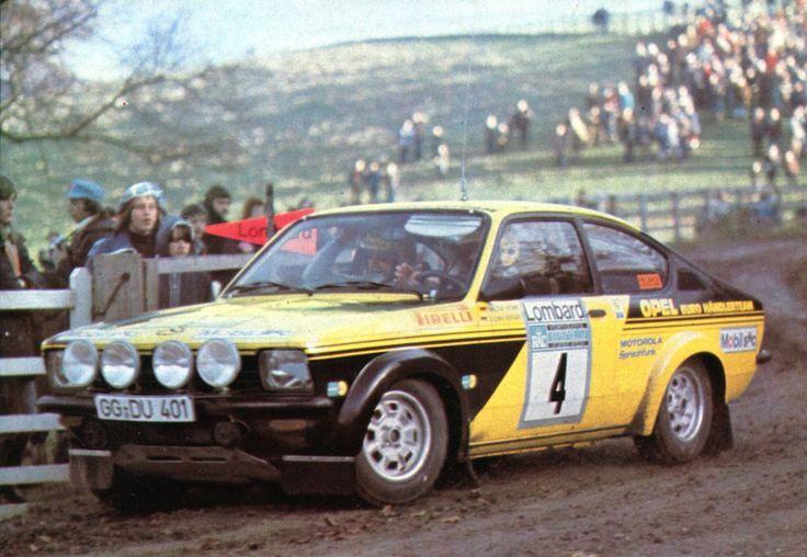 Walter Rohrl (Opel) RAC, Rallye d'Angleterre 1975 - L'Automobile janvier 1976.