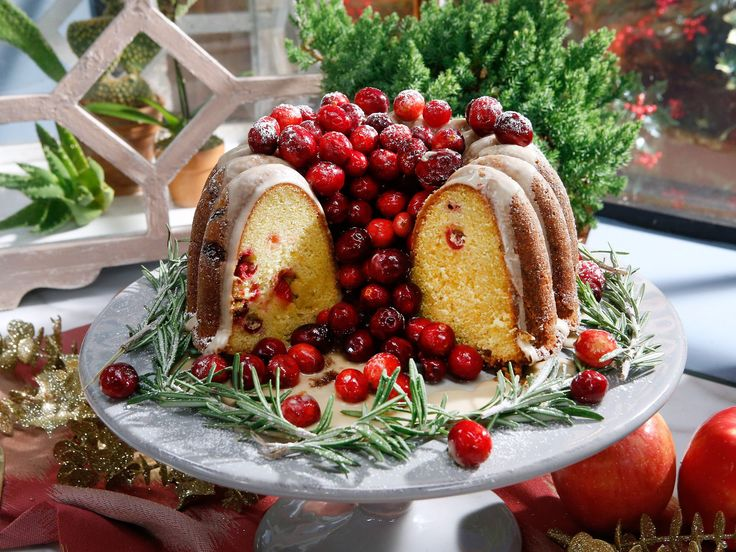 Orange-Cranberry Bundt Cake recipe from Jeff Mauro via Food Network