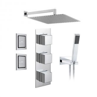 Nice TAB 1752/NOT CP 3 Outlet 3 Handle Concealed Thermostatic Valve Fixed Shower