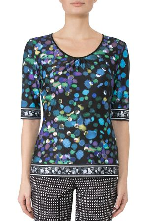 Anthea Crawford: Astro jersey top