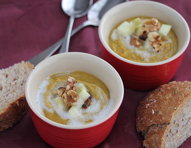 Spiced Vegetarian Lentil Soup Recipe {Secret Recipe Club