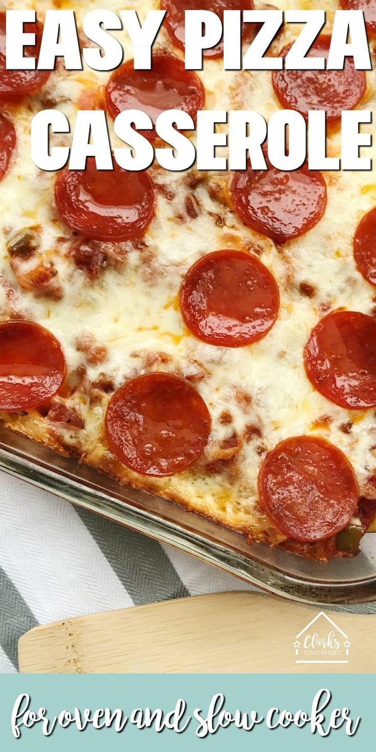 Sausage And Pepperoni Pizza Casserole Recipe Pizza Casserole
