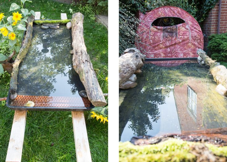 A portable reflecting pool for garden bird photography — John Gooday Photography
