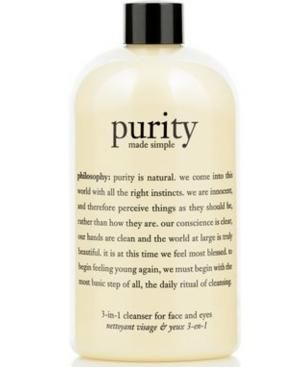 philosophy purity made simple cleanser, 16 oz from Macy's - philosophy purity made simple cleanser, 16 oz Beauty Shop by Category - Ski