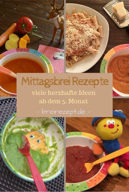 Mittagsbrei ist der erste Brei für das Baby ab dem 5.Monat, wenn die Beikost eingeführt wird. Wir sammeln viele abwechslungsreiche Rezepte für Babybrei zum Mittag mit Gemüse, Kartoffeln, Nudeln, Reis und Getreide, die ihr sowohl vegetarisch als auch mit Fleisch oder Fisch verfüttern könnt. Hier geht es zur Rezeptesammlung, mit der ihr den Babybrei selber machen könnt: http://www.breirezept.de/breirezepte_mittagsbrei.php