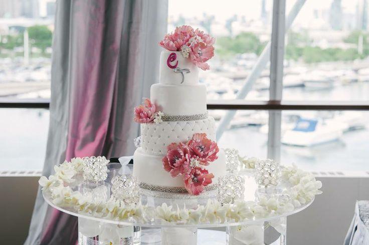 Floating Cake Table by Trade Sensation  #cake #groom #bride #wedding #flowers #reception #toronto #caketable #dessert