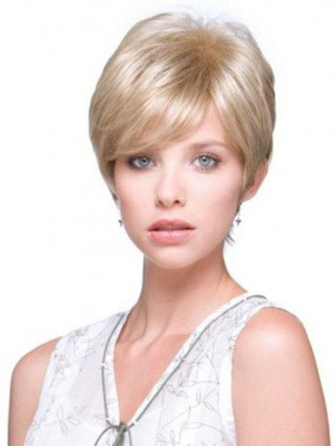 wedge haircut with bangs cropped wig with layered hairstyles wedge haircut 2867