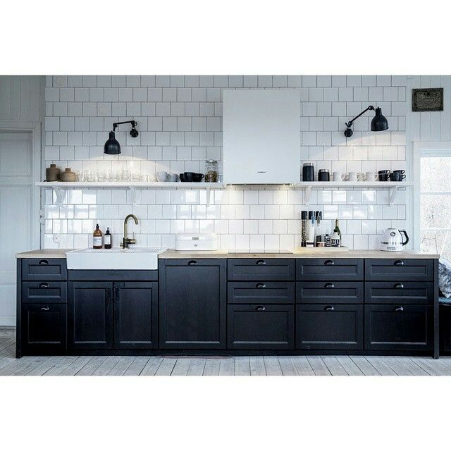 Ikea Kitchen Laxarby: Best 25+ One Wall Kitchen Ideas On Pinterest
