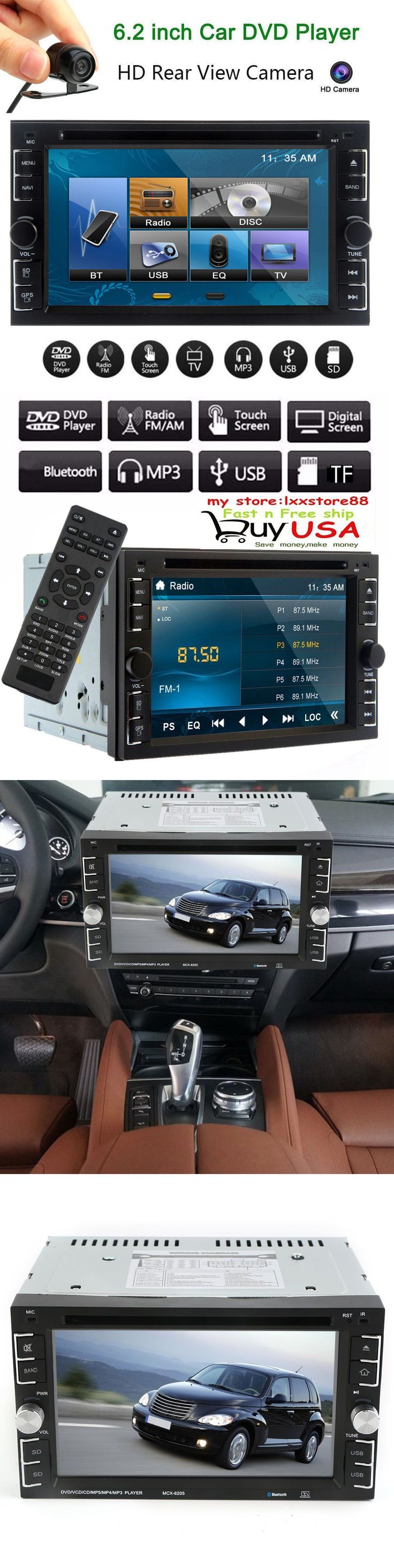 Vehicle Electronics And GPS: Double 2Din 6.2 Car Stereo Dvd Cd Mp3 Player Hd In Dash Bluetooth Tv Radioand Cam -> BUY IT NOW ONLY: $66.75 on eBay!