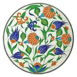 Ceramic 'Çini' Plate 'Spring', Mehmet Gürsoy