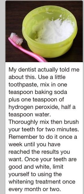 How to whiten teeth at home: