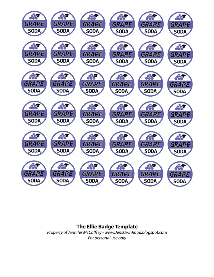 Ellie badge free printable.
