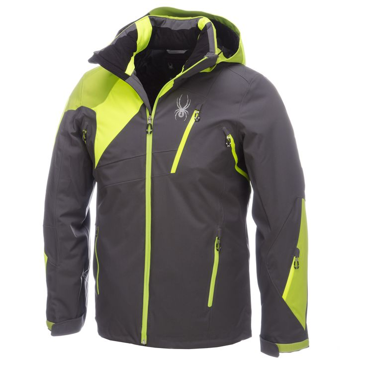 Spyder Vyper Ski Jacket Men Polar Grey Bryte Yellow