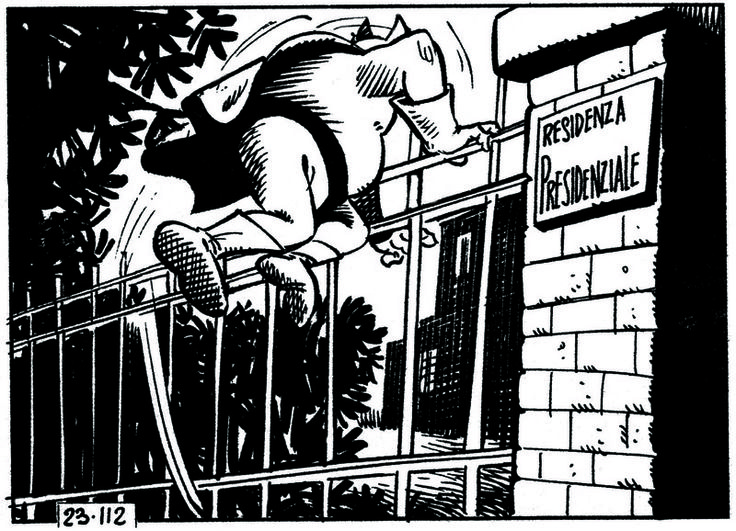 ITALIAN COMICS - Oggi come ieri: la rincorsa alla poltrona – uno sport nazionale…vedi presidente Leone e Amintore Fanfani 2: